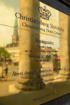 291 Christiansborg Slotskirke messingskilt